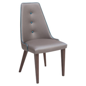 Designer chair, upholstered in any material.