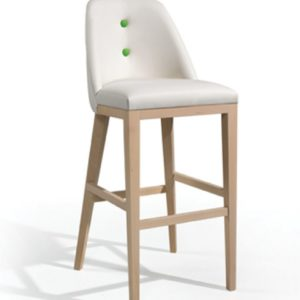 Barstool with button detail, quality manufactured in Europe.
