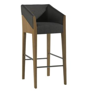 Contemporary stool, quality manufactured in Europe.