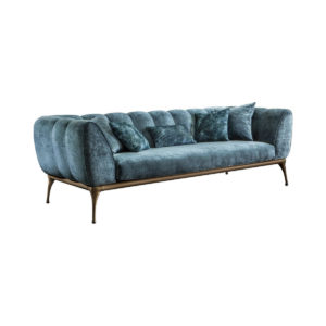 Contemporary 3 seater sofa in leather, eco-leather, velvet or fabric .