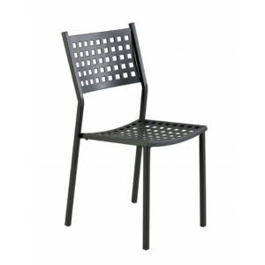 Classic outdoor metal side chair, quality manufactured in Europe.