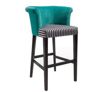Contemporary tub barstool, quality manufactured in Europe.